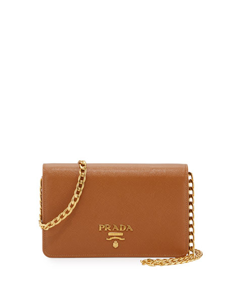 7b6fdeaa69d8 Prada Saffiano Lux Crossbody Bag, Caramel