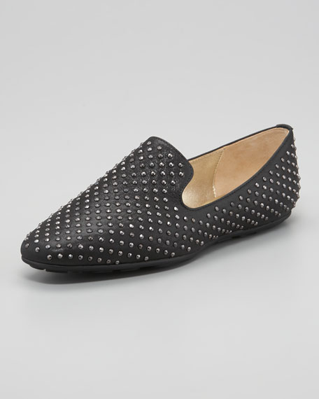 Jimmy Choo Wheel Studded Smoking Slippers