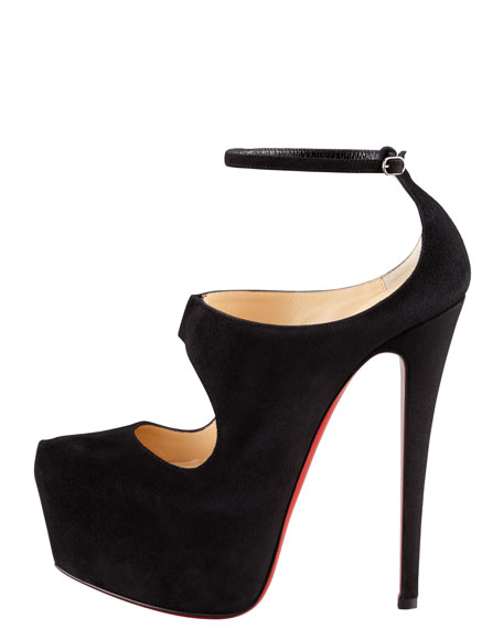 Maillot Cutout Platform Red Sole Red Sole Pump
