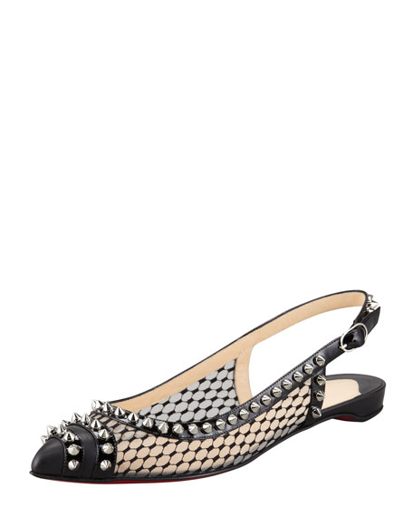 Christian Louboutin Mesh Fishnet Flats fashion Style cheap price cheap sale fashion Style discount extremely 8u4Rs