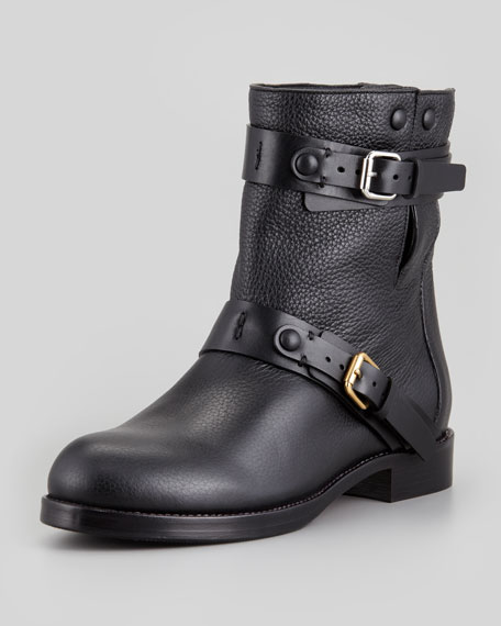 Chloé Leather Biker Boots 2S3jSVmfE
