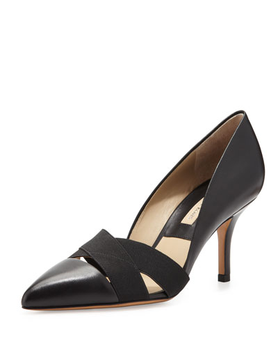 Stephanie Elastic-Strap Pump