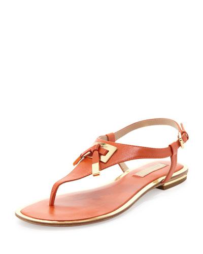 Hara Bow-Detail Thong Sandal