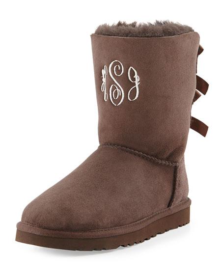 3e42ce647 UGG Bailey Bow-Back Short Boot, Chocolate