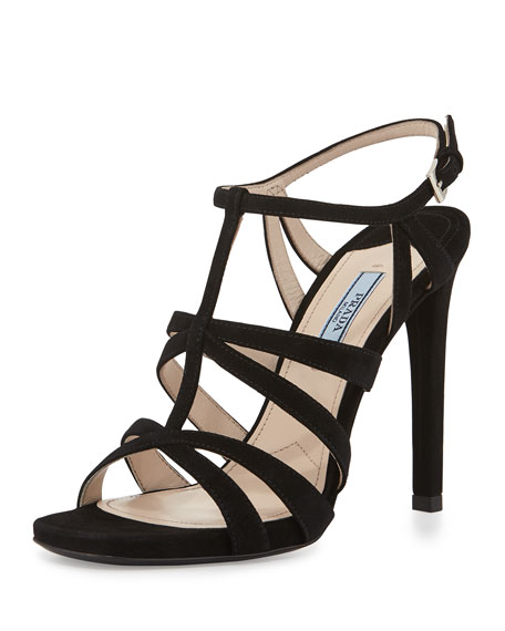Prada Suede Caged Sandals outlet amazon sale best prices outlet perfect 19XLIFMg