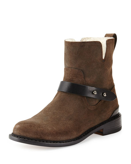 Rag & Bone Shearling-Lined Moto Ankle Boots free shipping recommend GarYjM1Jpo