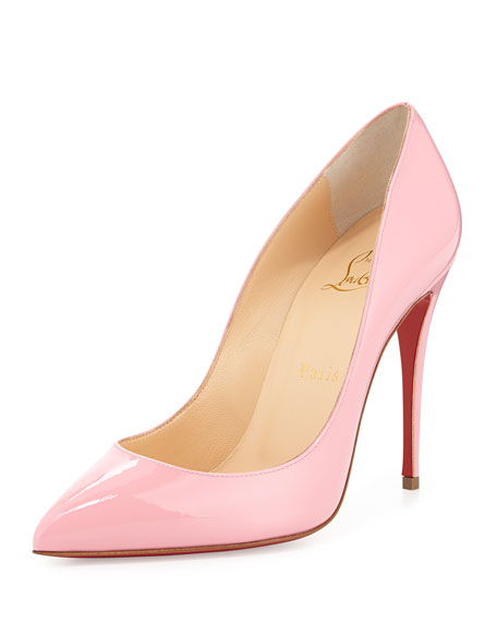6387b07939f Pigalle Follies Patent Point-Toe Red Sole Pump Rose