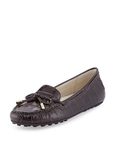 de639a42c747 MICHAEL Michael Kors Daisy Crocodile-Embossed Leather Moccasin Loafer