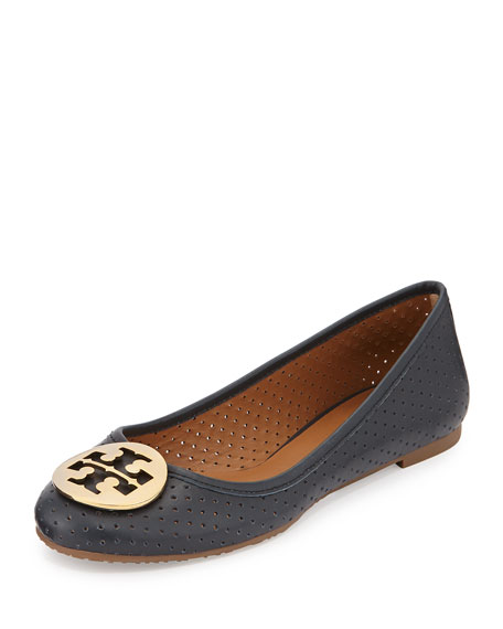 c0492144629 Tory Burch Reva Perforated Leather Ballet Flat