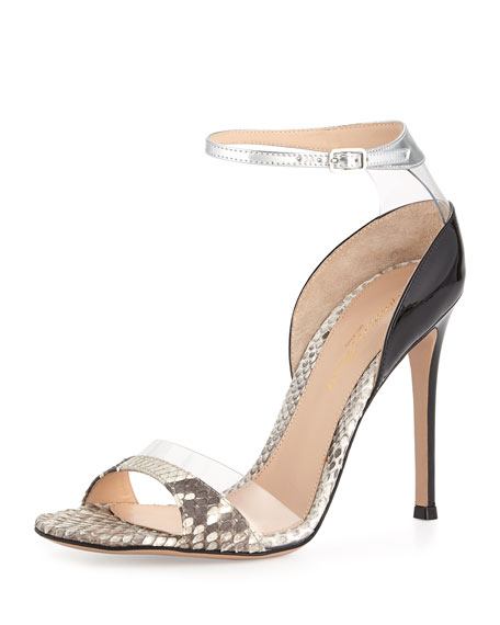 cheap clearance prices cheap price Sergio Rossi Snakeskin Ankle-Strap Sandals visit clearance low shipping shopping online cheap price i4bmLDOGET