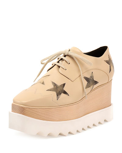 Elyse Faux-Leather Star Creeper, Nude/Gold