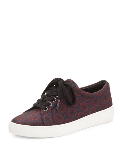 Valin Jacquard Low-Top Sneaker, Navy/Claret