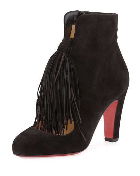Christian Louboutin Suede Tassel Booties best for sale great deals cheap online discount perfect buy cheap countdown package discount cost t46Qh8HTIM