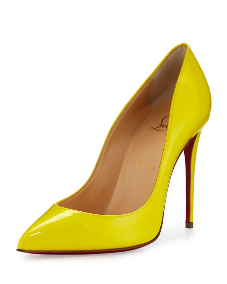 95aaefe9b7a Pigalle Follies Patent 100mm Red Sole Pump Sun