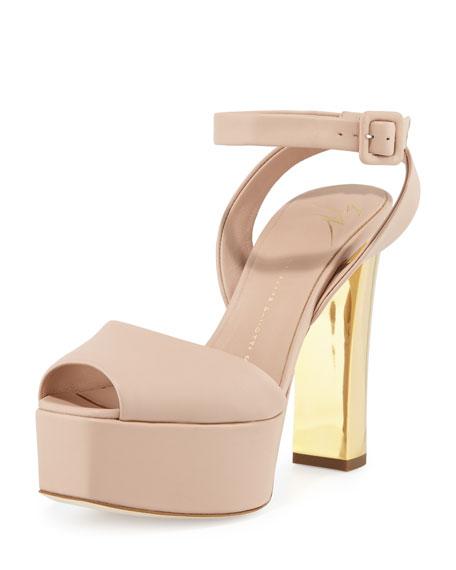 85c92f72e430 Giuseppe Zanotti Lavinia Leather Platform Sandal