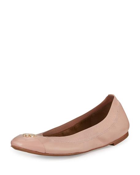 74a1bd89a7962f Tory Burch Jolie Logo Ballerina Flat