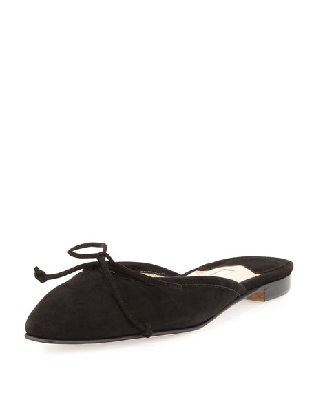 footaction cheap online amazing price for sale Manolo Blahnik Suede Ballet Flats countdown package cheap online free shipping 2014 new u8Ev8