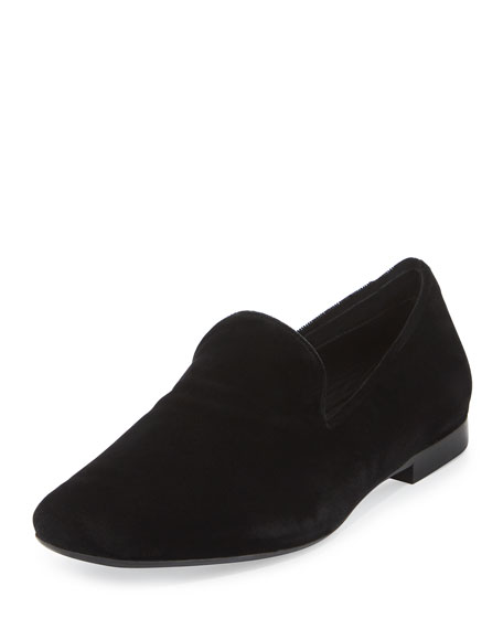 discount professional Vince Velvet Square-Toe Loafers outlet purchase outlet best store to get qMjtPrhs