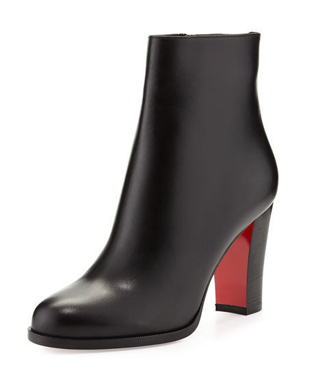 100% authentic 4bad9 893d1 Adox Leather 85mm Red Sole Ankle Boot Black