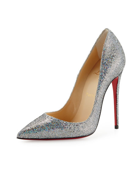 ab9afdbb522 Christian Louboutin So Kate 120mm Glitter Red Sole Pump