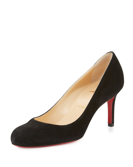 f394d0e61e32 Christian Louboutin Simple Suede 70mm Red Sole Pump