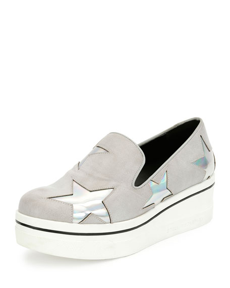 Stella McCartney Black Binx Stars Slip-On Sneakers s8uRtxP