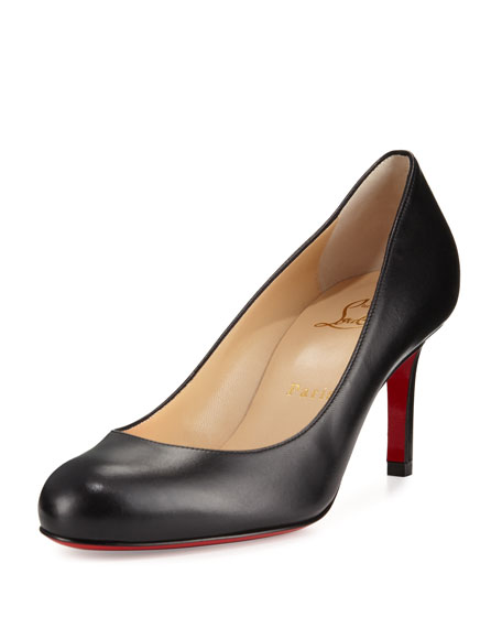 reputable site 87b78 50fd6 Simple Leather 70mm Red Sole Pump Black