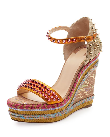 new style 72373 87f74 Madmonica Spiked 120mm Wedge Red Sole Sandal Full Moon