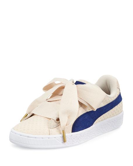Basket Heart Platform Sneaker, OatmealTwilight