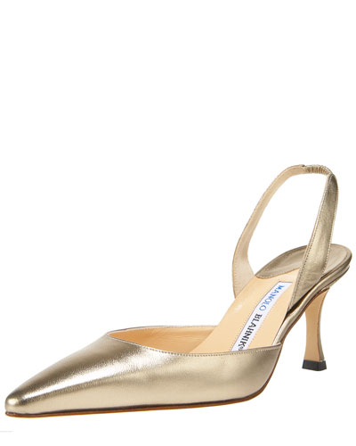 Napa Mid-Heel Halter, Metallic Gold