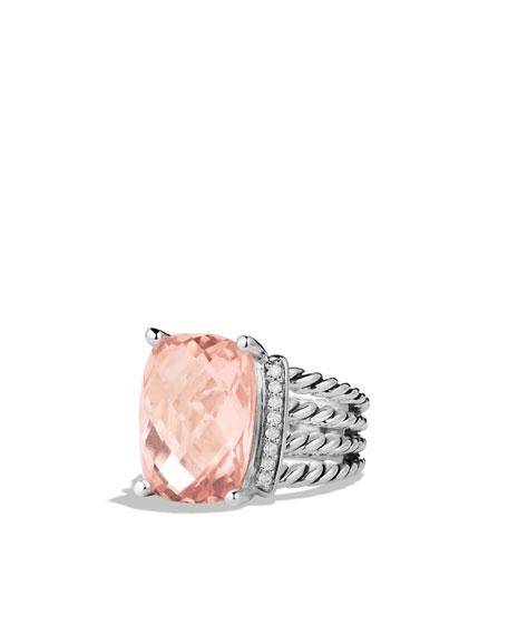 699f03af938 David Yurman Wheaton Ring with Morganite and Diamonds
