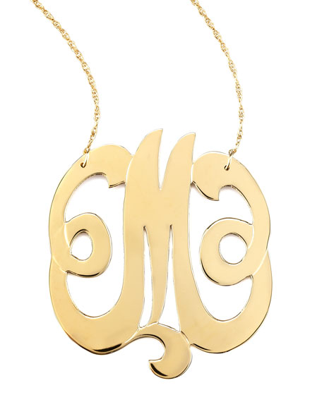 Swirly Initial Necklace, M