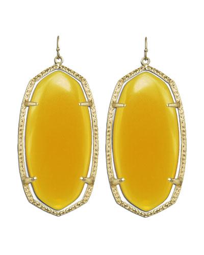 Danielle Earrings, Yellow Onyx