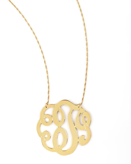 Swirly Initial Necklace, T