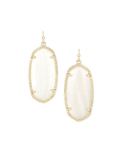 Elle Earrings, Mother-of-Pearl