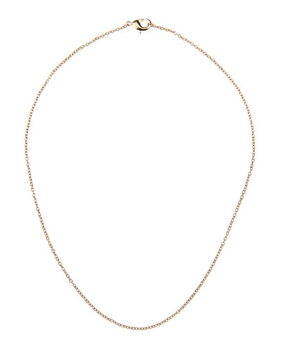 14k Gold-Plated Cable Chain Necklace, 25
