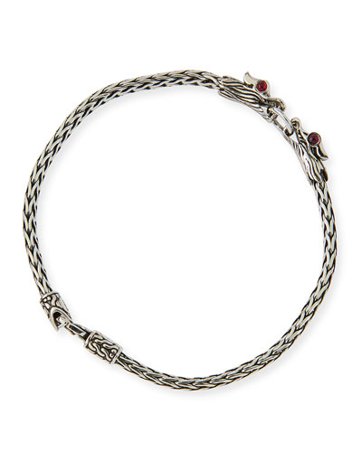 Naga Silver Dragon-Head Bracelet