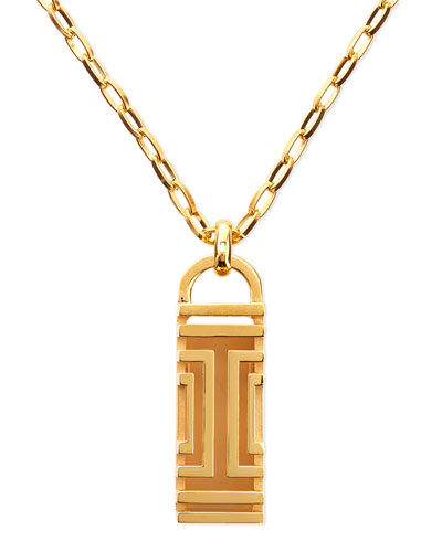 Golden-Plated Fitbit-Case Pendant Necklace