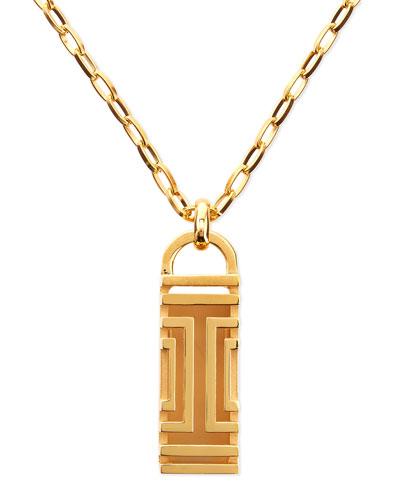 Golden-Plated Fitbit-Case Pendant Necklace
