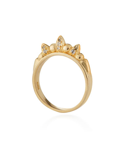 Gold-Plated Tribal Spike Ring