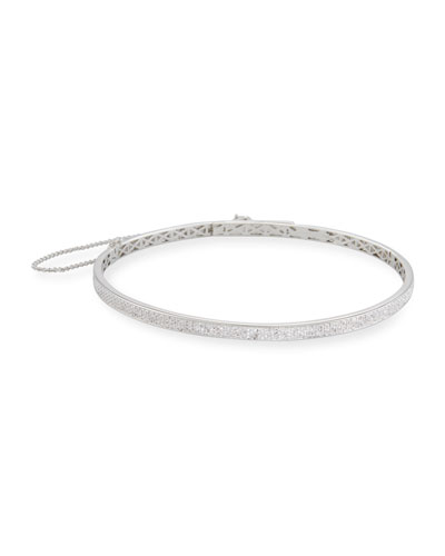 Pavé Crystal Extra-Thin Choker Necklace