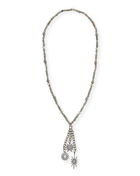 Hipchik Gwen Beaded Charm Necklace h5TDXyb