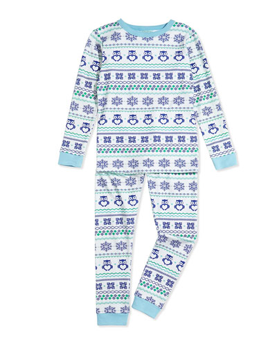 Owl Fair-Isle Pajama Set, 2T-8Y