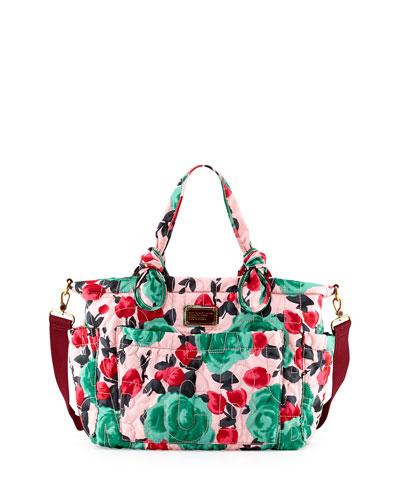 Eliz-A-Baby Pretty Nylon Diaper Bag, Floral