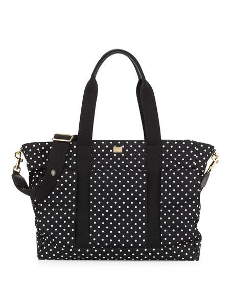 17f99da3092 Dolce & Gabbana Polka Dot Nylon Diaper Bag, Black/White