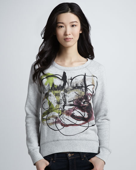 NM + Target Abstract-Print Sweatshirt