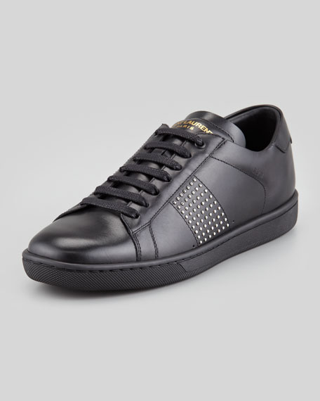 studded low-top sneakers - Black Saint Laurent 6q8kjldP