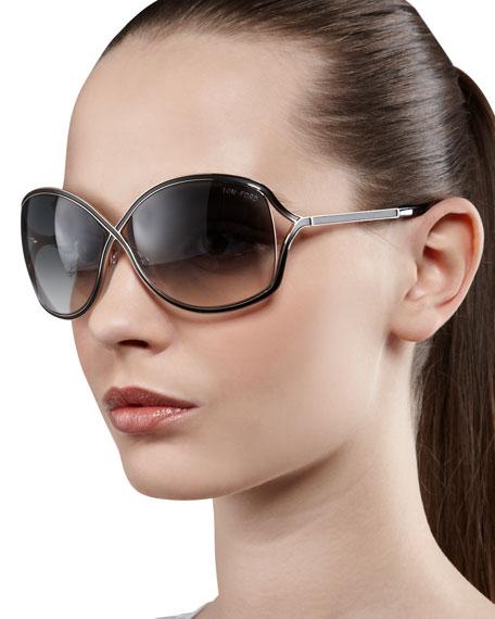 998eaeeddb0e6 TOM FORD Rickie Round Open-Temple Sunglasses