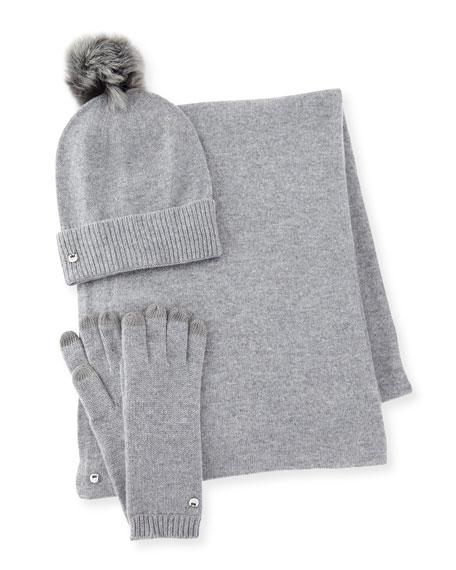 eab2c021321 UGG Hat Scarf And Glove Box Set Blue .