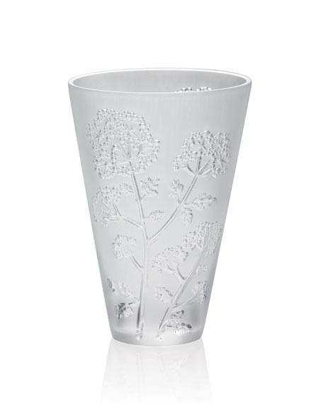 Lalique Small Ombelle Crystal Vase